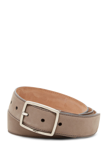 Accesorii Barbati Salvatore Ferragamo Nubuck Leather Belt GRIGIO NUO