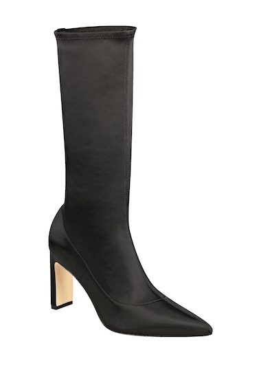 Incaltaminte Femei Sigerson Morrison Holly Satin Mid Calf Boot BLKSA