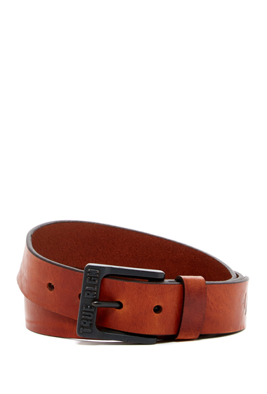 Accesorii Barbati True Religion 35mm Logo Bridle Leather Belt TAN