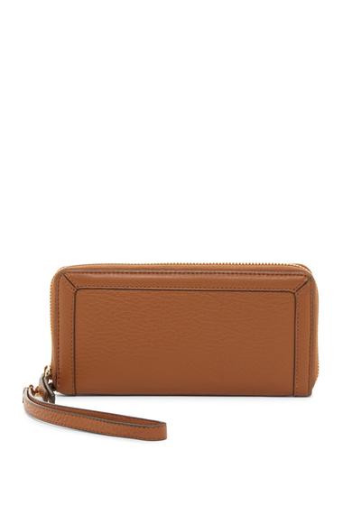 Genti Femei Vince Camuto Greva Leather Wristlet Wallet DARK RUM01