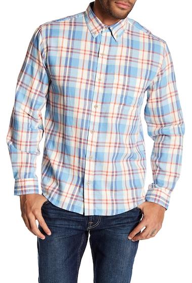 Imbracaminte Barbati Vintage 1946 Light Weight Plaid Print Flannel Shirt LT BLUREDWHT