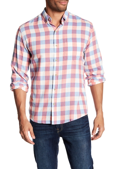 Imbracaminte Barbati Vintage 1946 Light Weight Plaid Print Flannel Shirt REDWHTBLU CHECK