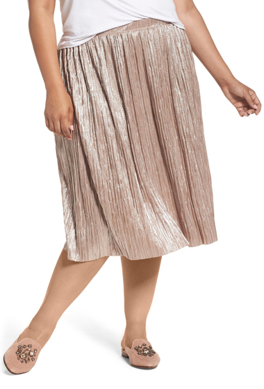 Imbracaminte Femei Vince Camuto Crushed Foil Pleated Skirt Plus Size TAFFY TWIS