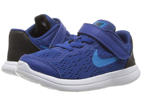 Incaltaminte Baieti Nike Flex RN 2017 (InfantToddler) Gym BlueBlue OrbitBlackWhite