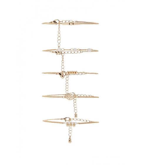 Bijuterii Femei Forever21 Curb Chain Bracelet Set GOLDCLEAR