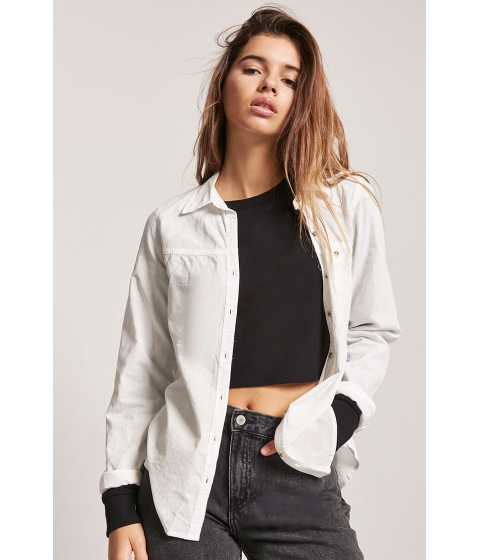 Imbracaminte Femei Forever21 Mineral Wash Shirt WHITE