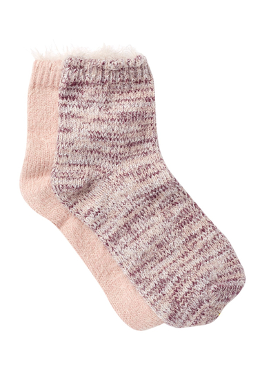 Accesorii Femei Free Press Feather Knit Low Cut Socks - Pack of 2 PINK SPACE DYE