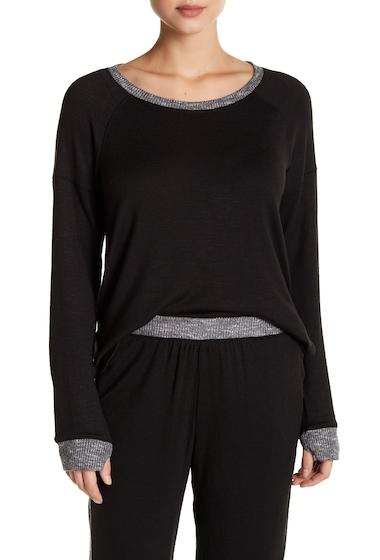 Imbracaminte Femei kensie Contrast Trim Long Sleeve Pullover BLACK