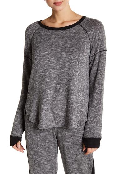 Imbracaminte Femei kensie Contrast Trim Long Sleeve Pullover GREY