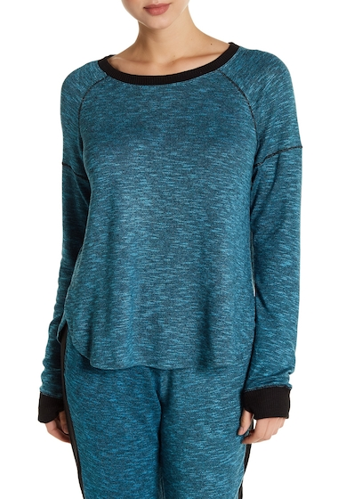 Imbracaminte Femei kensie Contrast Trim Long Sleeve Pullover PEACOCK