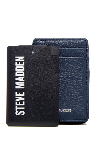 Accesorii Barbati Steve Madden Leather Wallet Charger Set 23-NAVY