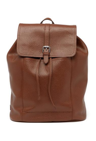Genti Barbati Cole Haan Leather Flap Backpack WOODBURY