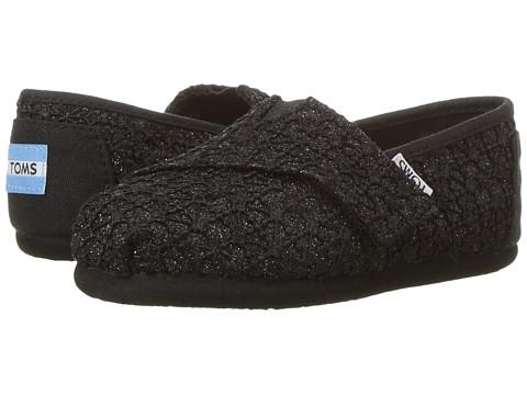 Incaltaminte Fete TOMS Alpargata (InfantToddlerLittle Kid) Black Lace Glimmer
