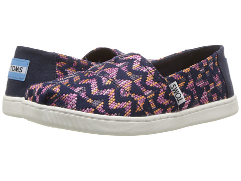 Incaltaminte Fete TOMS Alpargata (Little KidBig Kid) Fuchsia Colorful Tribal