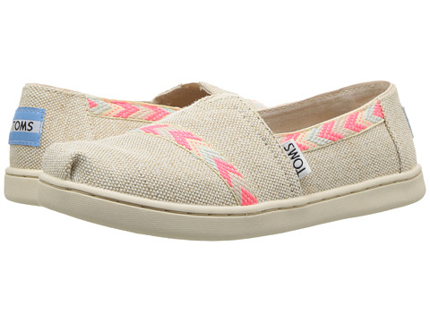 Incaltaminte Fete TOMS Alpargata (Little KidBig Kid) Natural Metallic Burlap