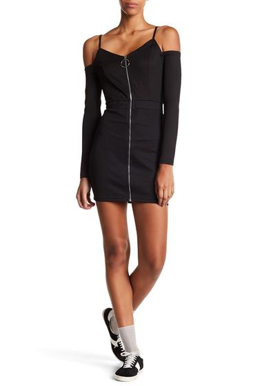 Imbracaminte Femei Dance and Marvel Cold Shoulder Zip Up Mini Dress BLACK
