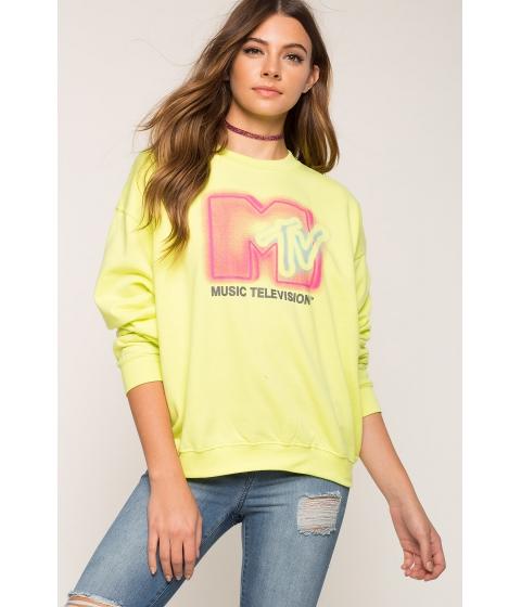 Imbracaminte Femei CheapChic Bold Mtv Sweatshirt Neon Yellow