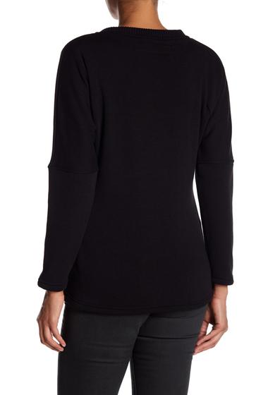 Imbracaminte Femei Blanc Noir Snap Front Fleece Sweater BLACKBLACK