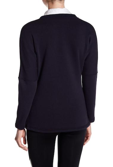 Imbracaminte Femei Blanc Noir Snap Front Fleece Sweater NAVYBLACK