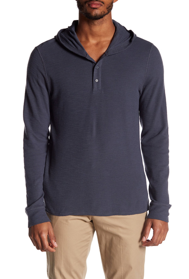 Imbracaminte Barbati Vince Hooded Henley PEWTER