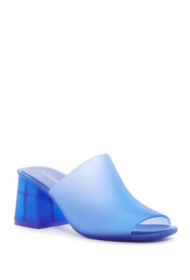 Incaltaminte Femei Jeffrey Campbell Petra Jelly Block Heel Mule BLUE MATTE