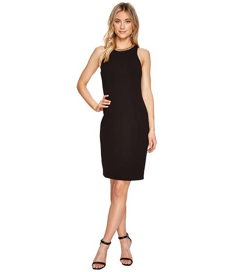 Imbracaminte Femei Calvin Klein Chain Detail Neck Sheath Dress CD7C11CH Black