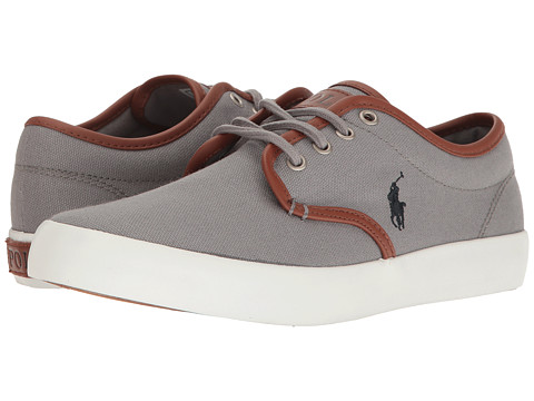Incaltaminte Fete Polo Ralph Lauren Waylon (Big Kid) Grey CanvasNavy PP