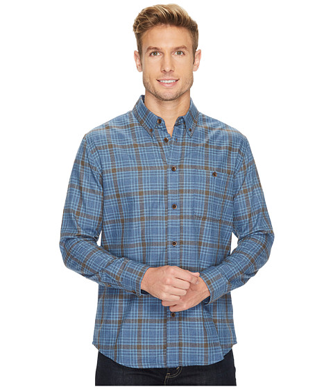 Imbracaminte Barbati Quiksilver Cortez Straight Long Sleeve Flannel Shirt Estate Blue