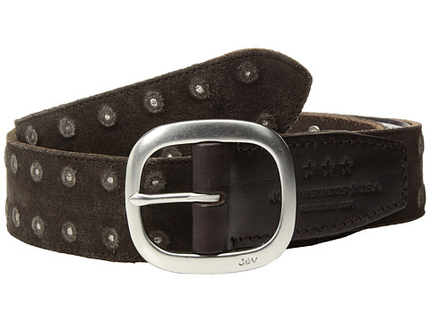 Accesorii Barbati John Varvatos Distressed Suede Belt With Studs Chocolate