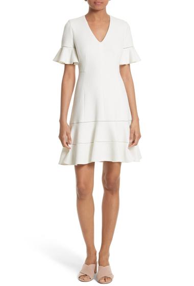 Imbracaminte Femei Rebecca Taylor Frill Sleeve Texture Knit Dress SNOW
