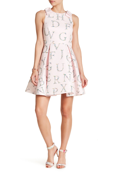 Imbracaminte Femei Ted Baker London Zowey Unity Floral Bow Skater Dress NUDE-PINK
