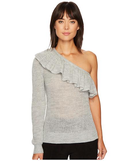 Imbracaminte Femei Rebecca Taylor One Shoulder Ruffle Alpaca Pullover Grey Melange