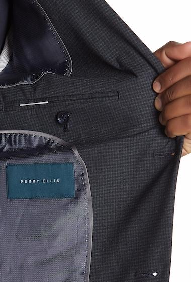 Imbracaminte Barbati Perry Ellis Blue Graphite Checkered Blazer BLUE GRAPHITE