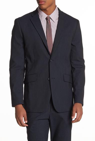 Imbracaminte Barbati Perry Ellis Blue Graphite Stripe Blazer NAVY