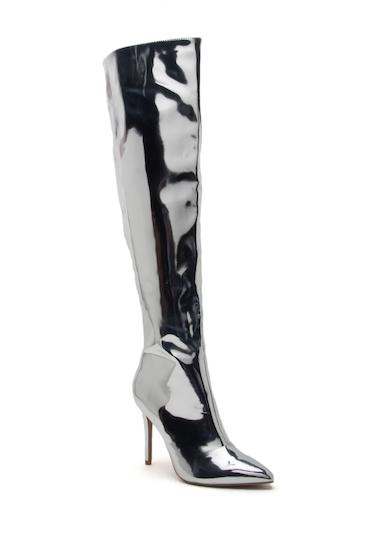 Incaltaminte Femei Qupid Milia Metallic Over-the-Knee Boots SILVER