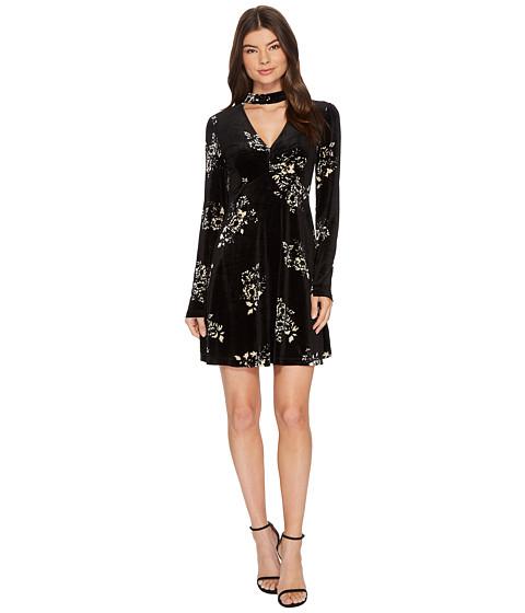 Imbracaminte Femei Romeo Juliet Couture Floral Print Velvet Dress BlackCream