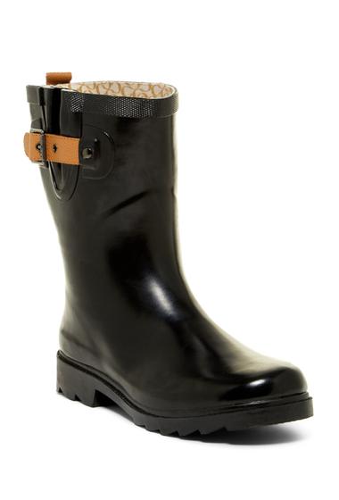 Incaltaminte Femei Chooka Top Solid Mid Waterproof Rain Boot BLACK