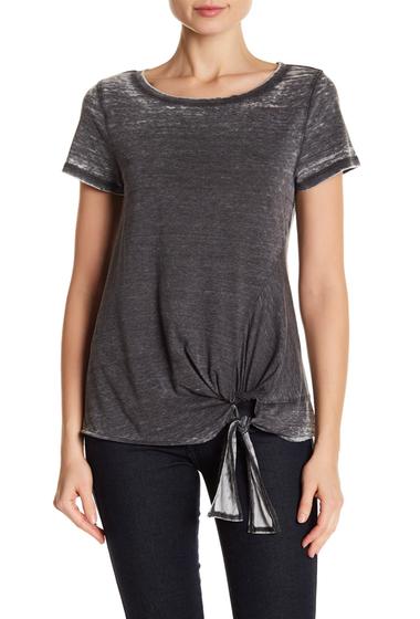 Imbracaminte Femei SUSINA Tie-Front Faded Tee Petite BLACK