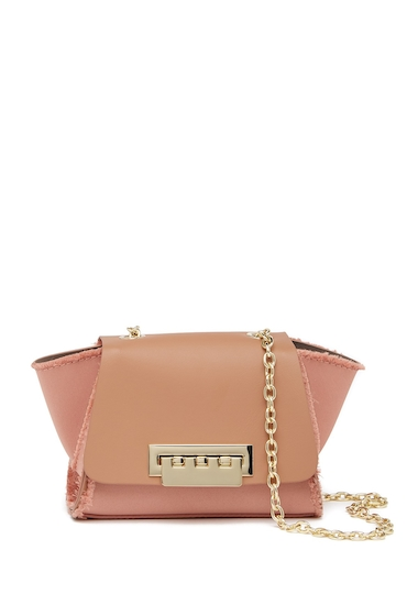 Genti Femei ZAC Zac Posen Eartha Mini Chain Leather Crossbody Bag PROSECCO