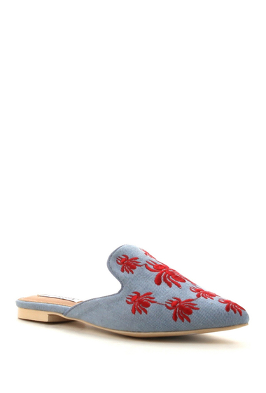 Incaltaminte Femei Cape Robbin Cell Embroidered Mule DENIM