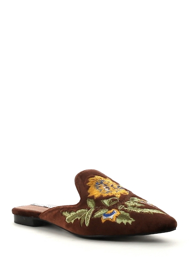 Incaltaminte Femei Cape Robbin Cell Embroidered Velvet Mule BRONZE