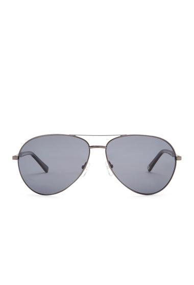 Ochelari Barbati Ted Baker London 62mm Aviator Sunglasses GUNMETAL