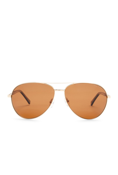 Ochelari Barbati Ted Baker London 62mm Aviator Sunglasses GOLD