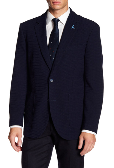 Imbracaminte Barbati TailorByrd Classic Notch Collar Quilted Sport Coat NAVY