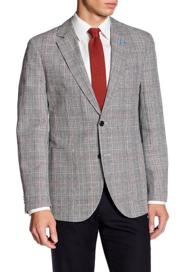 Imbracaminte Barbati TailorByrd Classic Notch Collar Plaid Print Sport Coat BLACK
