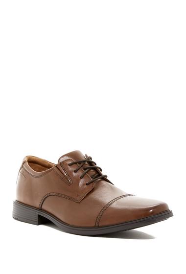 Incaltaminte Barbati Clarks Tilden Cap Toe Leather Derby-Multiple Widths Available DARK TAN L