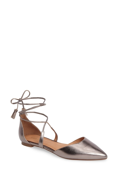 Incaltaminte Femei Halogen Oliver Pointed Toe Flat PEWTER LEATHER