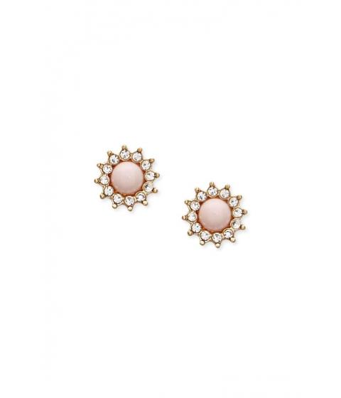 Bijuterii Femei Forever21 Faux Pearl Rhinestone Stud Earrings GOLDPINK