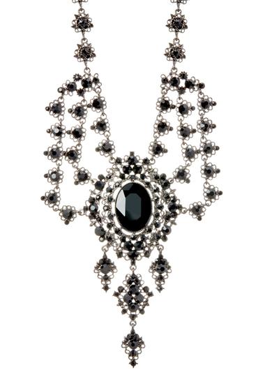 Bijuterii Femei Natasha Accessories Crystal Detail Dramatic Necklace JET