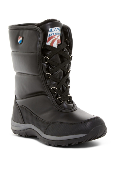 Incaltaminte Femei Khombu Ski Team Faux Fur Lined Waterproof Boot BLACK